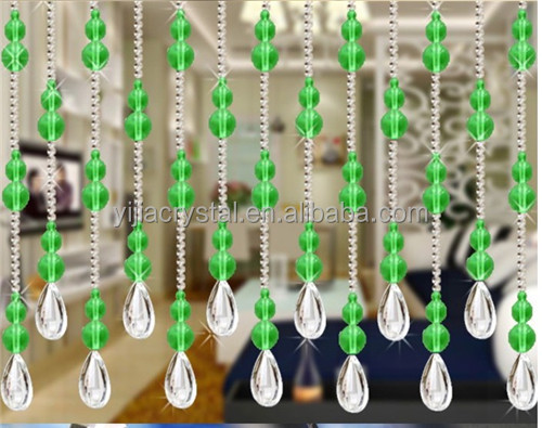 Interior Home Decor crystal bead window curtains