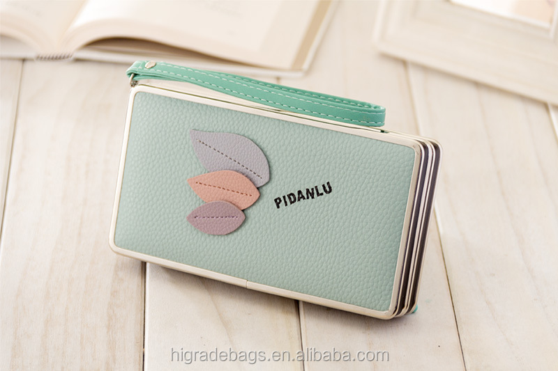 New Fashion Flower Women Wallet 5 Colors Floral Wallet Long Popular Portable Purse Delicate Casual Lady Cash Purse Wallets