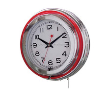 cheapest double neon wall clock wholesale