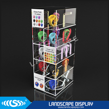 Custom made clear acrylic watch display stand / plexiglass watch display cabinet / acrylic watch display showcase for stores