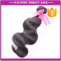 "good prices best material natural color body wave brazilian human hair weave 16"" wholesale"