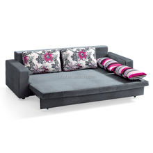floral home furniture used cheap fabric futon sofa bed LS869