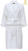Wholesale Unisex Cheap White Cotton sleeping robe for women