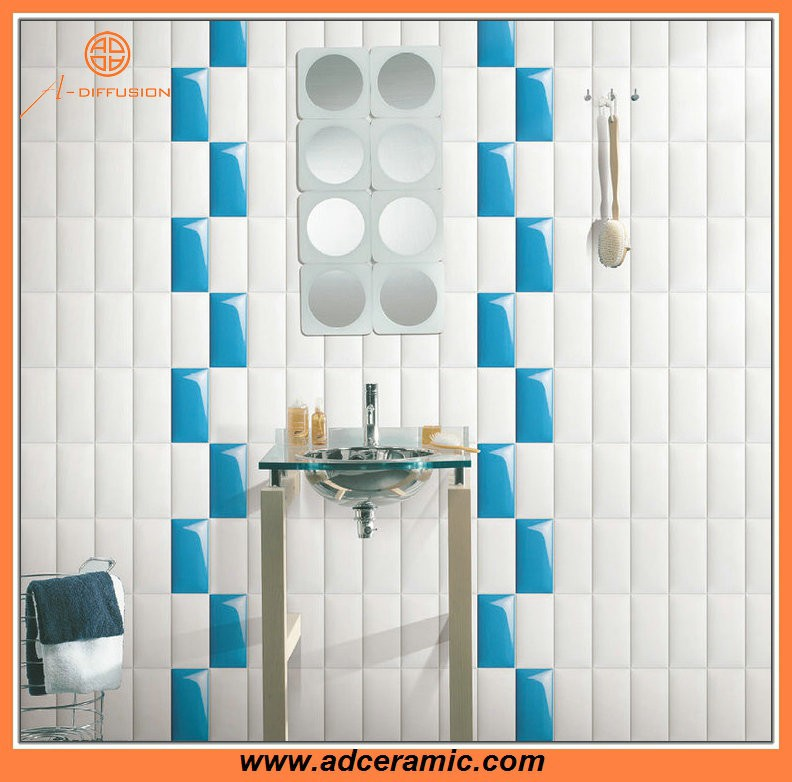 muticolor latest design 3d wall tiles 75x150mm