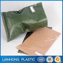 Widely used low price pp bags with printing, hot sale polypropylene sandbags with drawstring, durable cheap geotextile sand bag