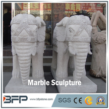 High Quality Stone Animal Sculpture Carving Large Elephant Statues