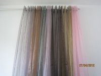 100%polyester organza sheer stripe jacquard curtain