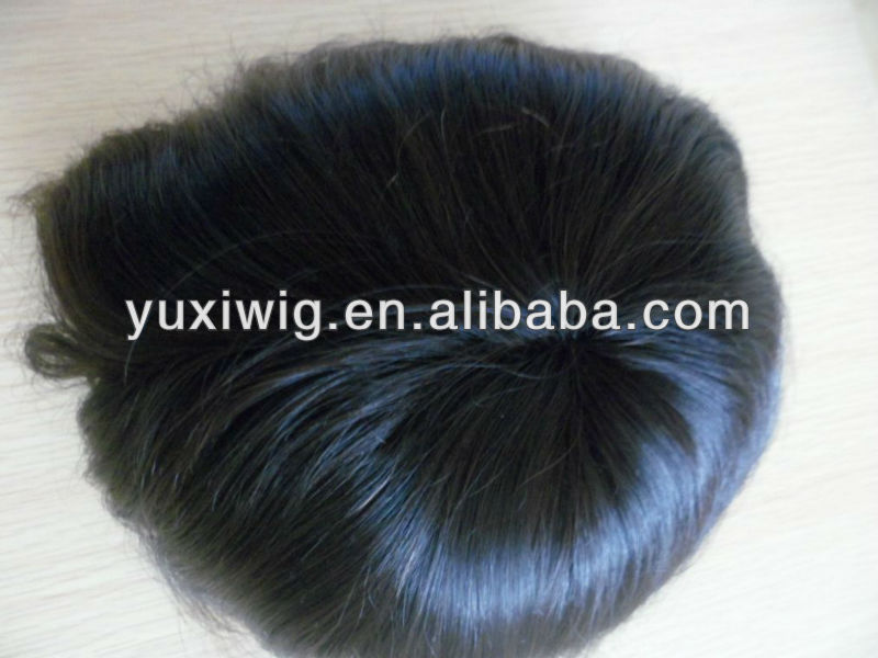 100% remy human hair good quality male hair wigs