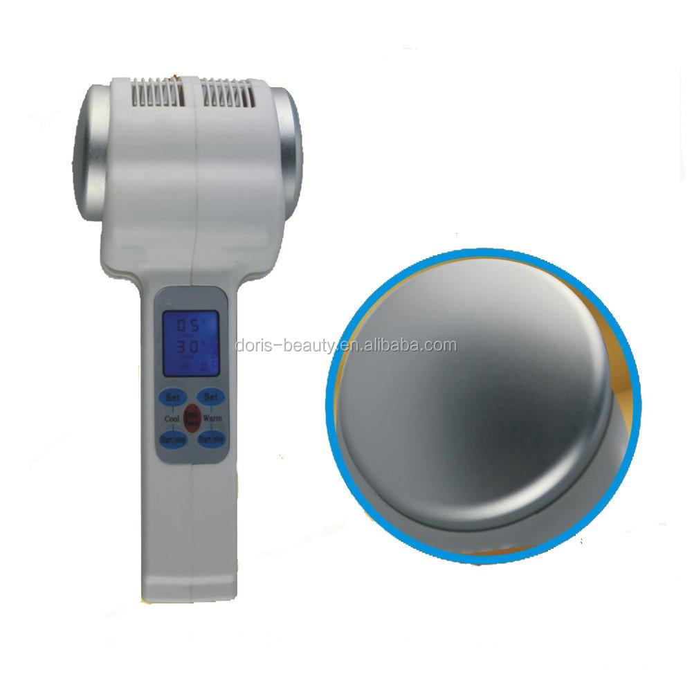 Portable mini facial hot cold hammer ultrasonic therapy home skin care device LW-017