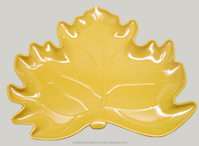 melamine maple leaves shape plate
