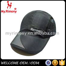 Cheap flat embroidery polyester summer mesh sports cap
