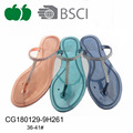 New arrival summer fashion pvc lady flat slippers
