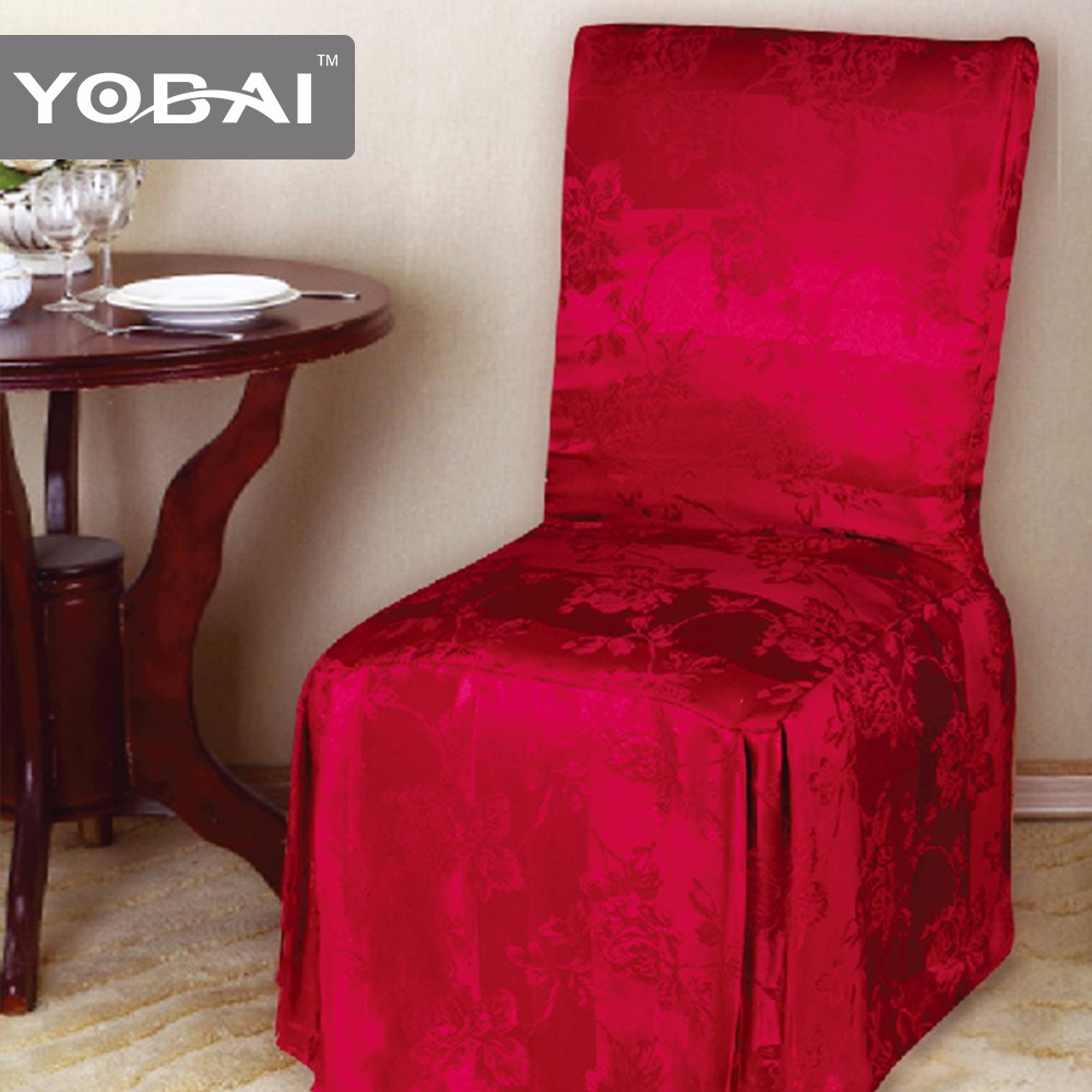 Luxury JACQUARD Cheap Polyester Chair Cover Factory