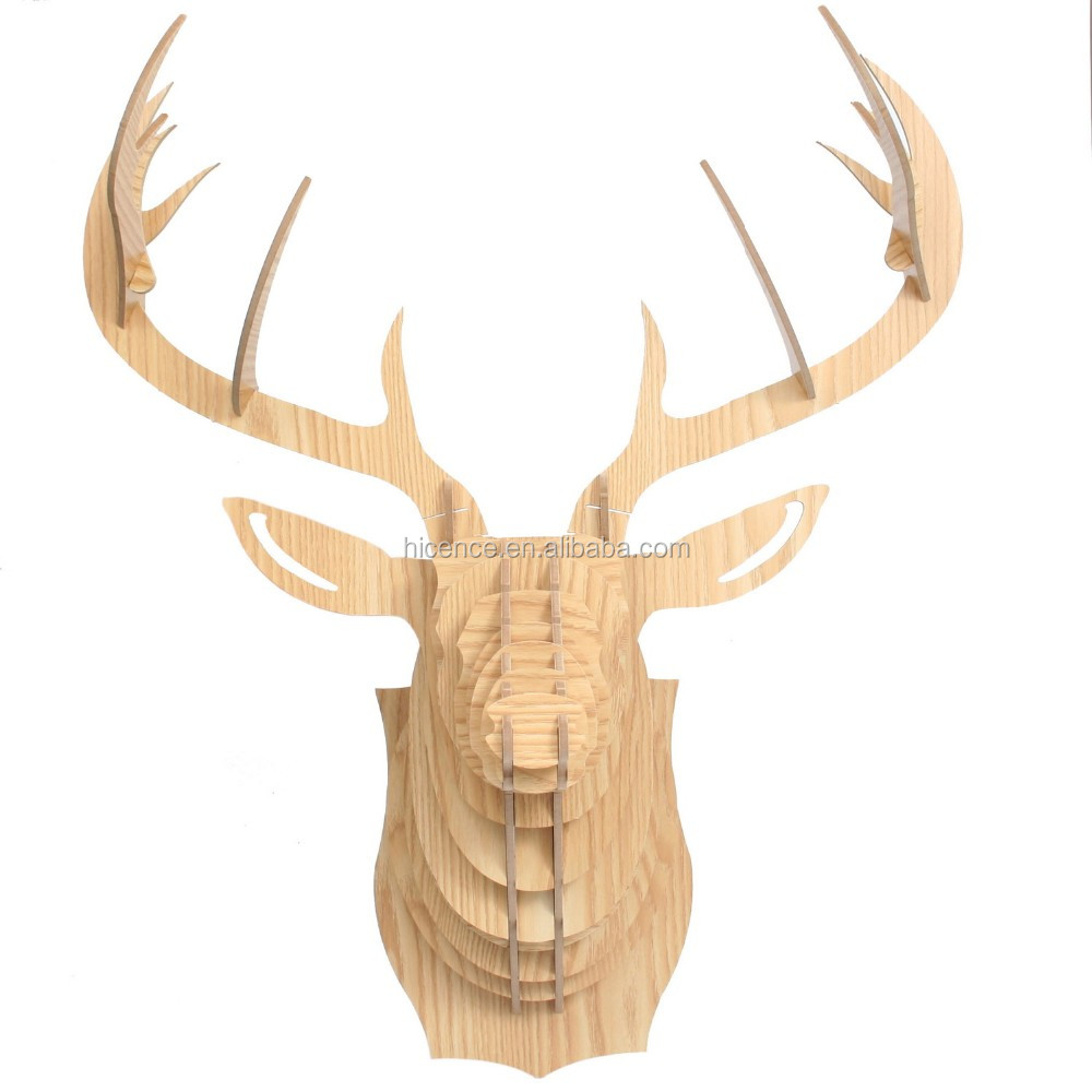 High quality Hanging wood animal head avatar