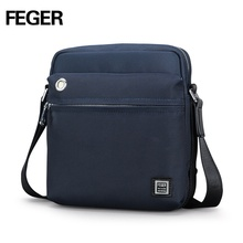 Feger men's oxford Shoulder briefcase bag for ipad mini branded men sling bag