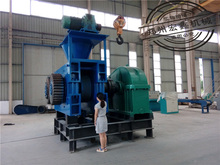 Advanced mechanical and hydraulic coal powder press briquette make machine