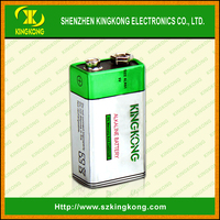 Square 9v ALkaline battery 6LF22 dry battery Outperforms