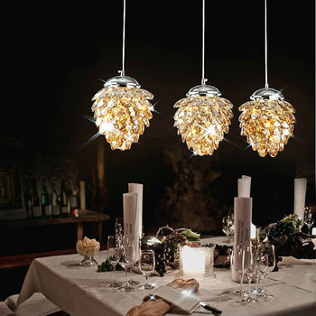 Modern luxury champagne crystal chandelier