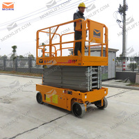 MORN 4-14m battery power self propelled electric scissor lift