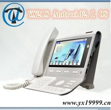 YX218 android rj45 voip sip phone 4 line , asterisk compatible ip phone 4 line PSTN voip phone with landline