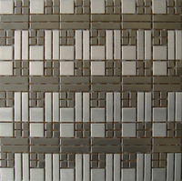 Stainless steel mosaic tiles, Mosaic design, Grey mosaic tiles