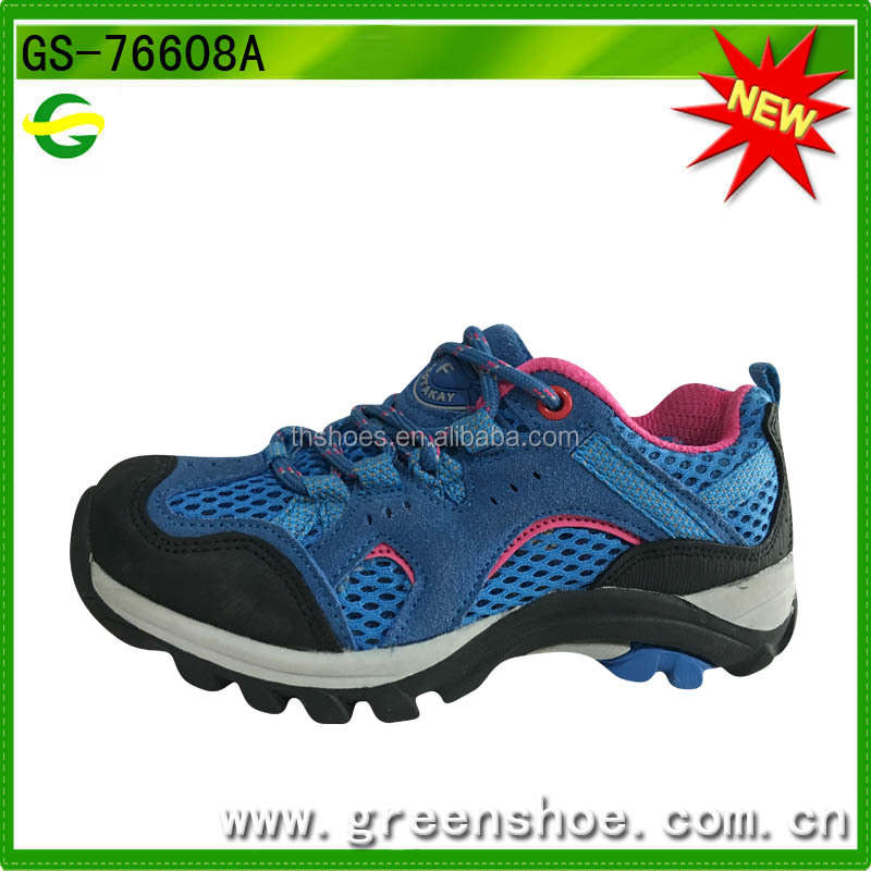 New urban kids unisex favorite hiking shoes sport running shoes blue mountain shoes