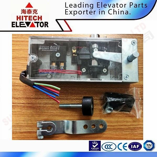 Semi-automatic elevator door lock