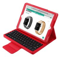Folding PU Leather Folio Cover with Removable Bluetooth Keyboard