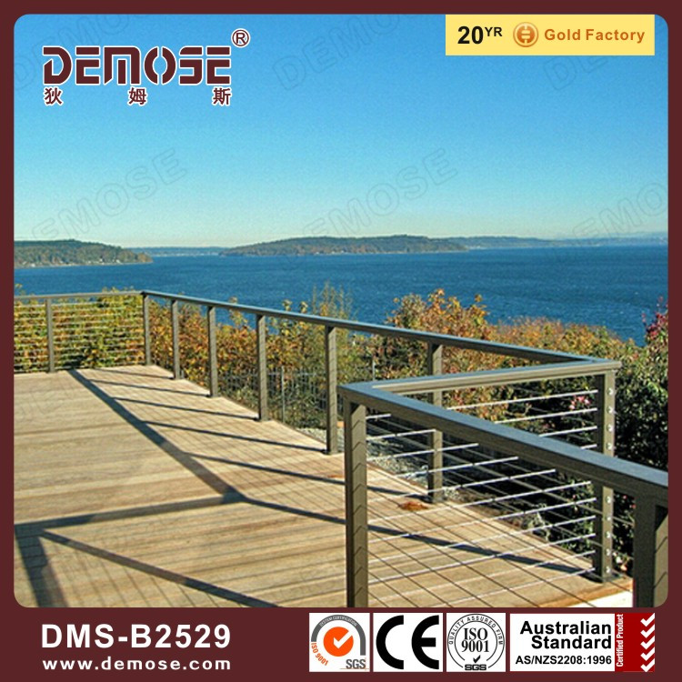wire mesh railings or wire railing cantilever staircase