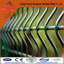 Cheap prefab fence panels / residential fence / white vinyl coated welded wire fence /