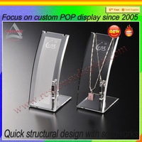Crystal Clear Acrylic Necklace Display Stand/Elegant Necklace Jewelry Display