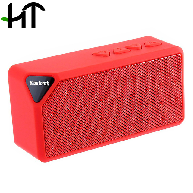 Wireless Portable MINI Bluetooth Speaker Music Sound Box X3 Jambox Style TF USB FM Subwoofer Loudspeakers For Mobile Phone