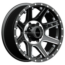 16x8.0 car alloy wheel usa sport rims with pcd 6x139.7 negative offset
