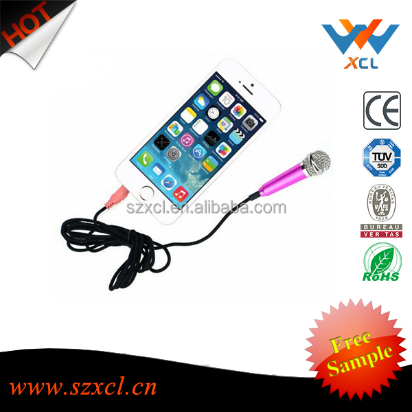 Karaoke microphone earphone for <strong>mobil</strong> phone