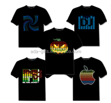 DISCO dancing light up el shirt custom equalizer t-shirt led music t-shirt