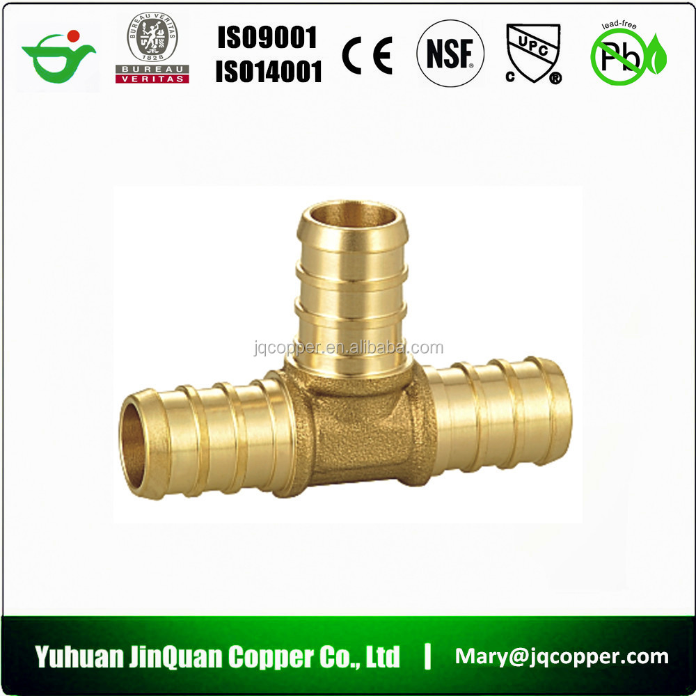 Free Samples cUPC NSF approved Lead Free Brass pipe fittings barred tee