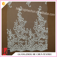 HC-8910-1 Hechun Heavy Corded Guipure Lace Fabric for Wedding Dresses