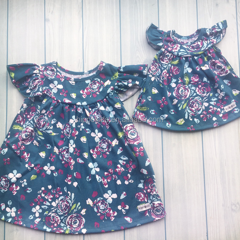 2017 baby frock design pictures boutique kids pearl dresses floral little girl dress