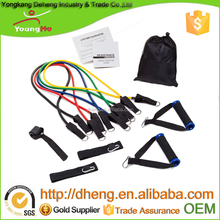 Best Price 5 kind of different latex tube color make your own resistance bands with D ring