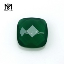 Lab Created Double Faceted Square Cut Emerald Glass Stones Hot Sale Emerald Glass Price