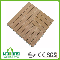 Longer service life square 300x300mm DIY WPC waterproof outdoor decking tile