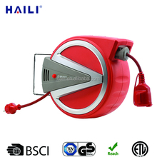 10m small spring loaded cable reel/empty plastic cable reel/extension cable reel