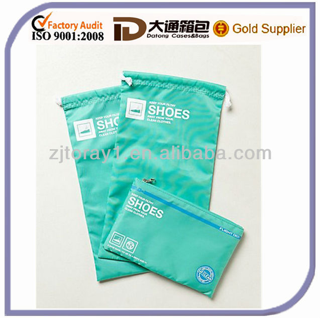2014 new product flight nylon shoe drawstring bag