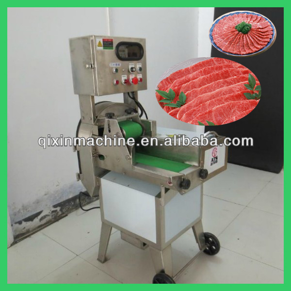 popular 500-800kg/h cooked meat slicing machine