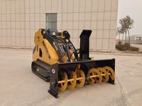Portable Diesel Driven Craweler Pusher Thrower Sweeper Snow Blower