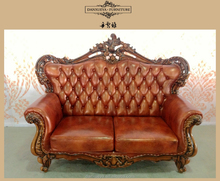 Solid wood carving antique furniture