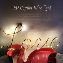 Valentine's day LOVE gift led fairy star twinkle copper wire laser lighting for bedroom patio string light