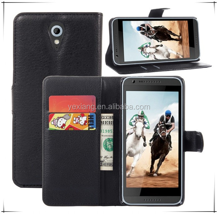 Lichee Pattern Wallet Leather Mobile Phone Case Flip Back Cover For ZTE Blade S7