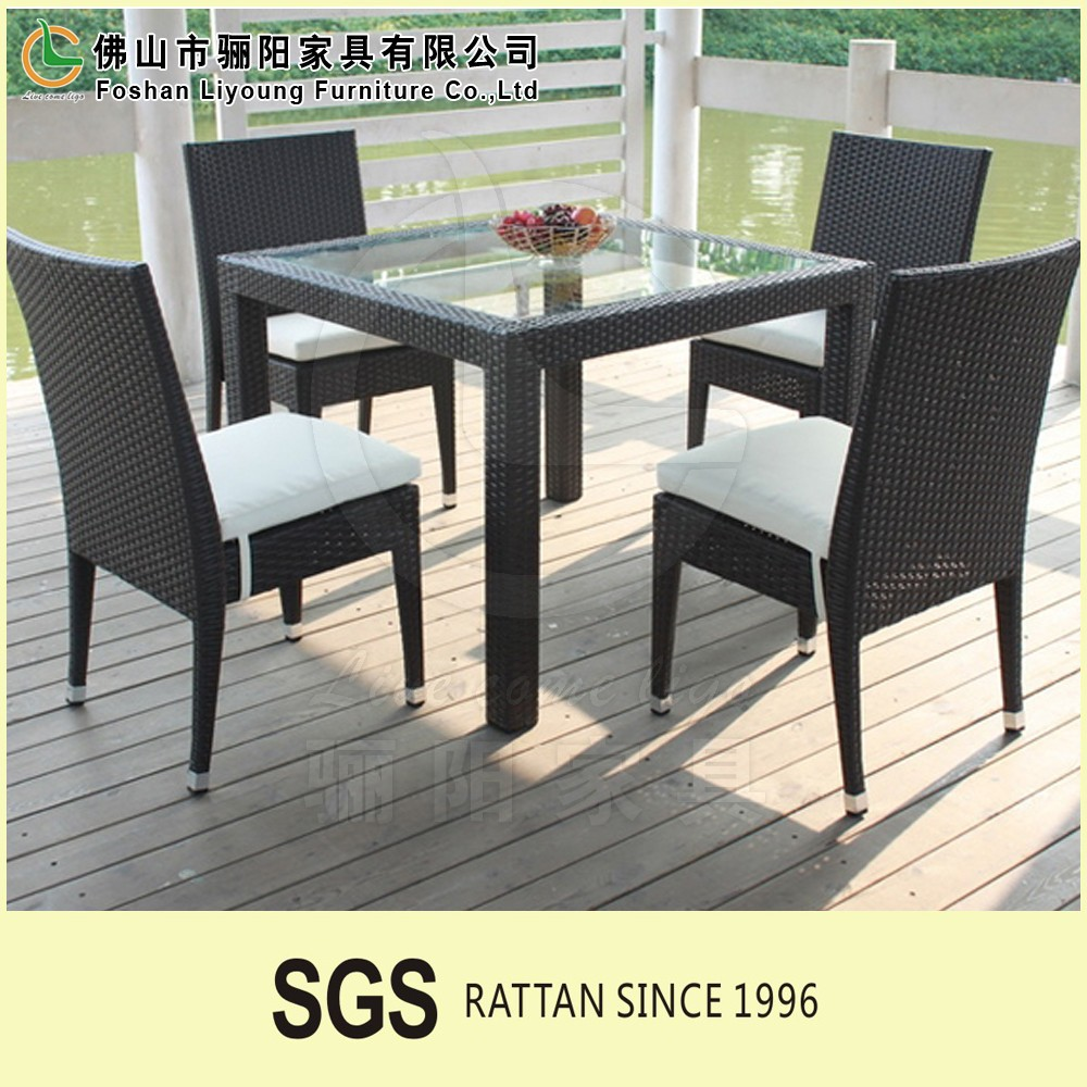 plastic materials for weaving outdoor chairs synthetic wicker material dining table set