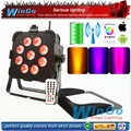 9pcs 6 in 1 RGWBA UV LED Light Source LED Stage Lighting with battery power